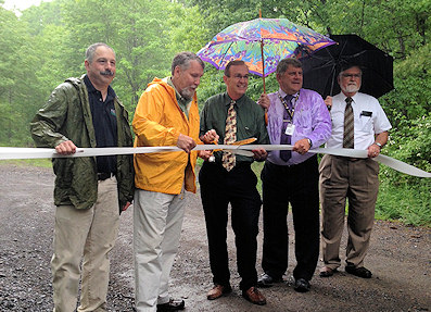 DCNR, DEP officials dedicate renovated, reopened ATV trail